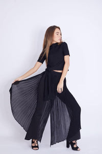 Lycra Pants with Chiffon Skirt - W2020