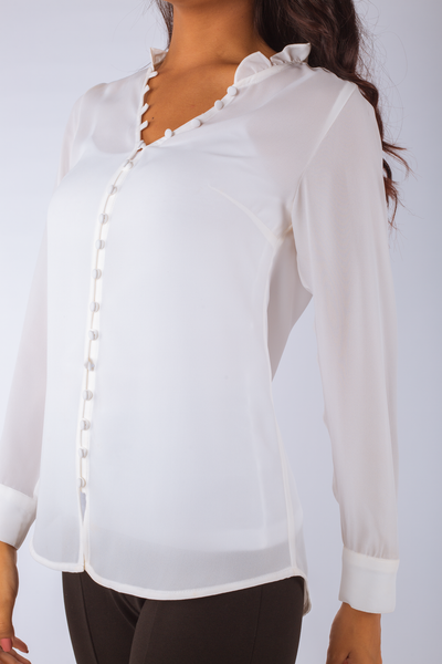 Loop Buttons Blouse - 110012