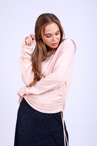 Knitted Top with Side Ribbons -140027