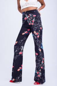 High Wasist Printed Pants -120025
