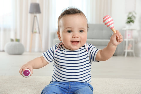 socks that stay on - indoor play with baby