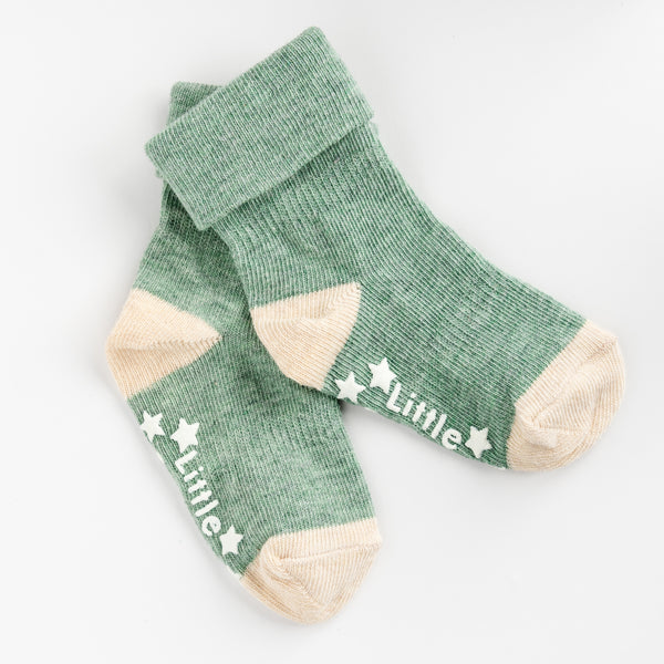 Non-Slip Stay On Socks - 3 Pack in Mustard, Oatmeal and Forest Green