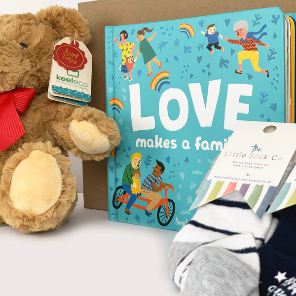 Love Makes a Family Luxury Gift Set for Babies and Toddlers