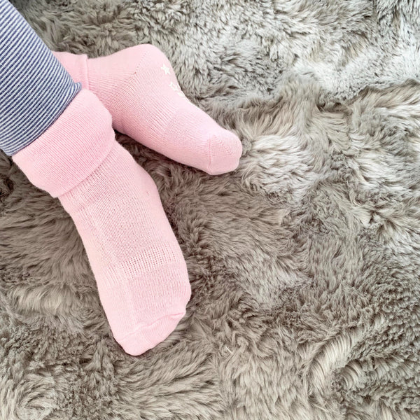 Non-Slip Stay on Socks - Fairy Tale Pink