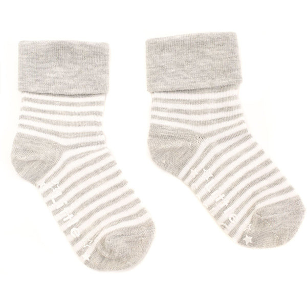 Pink and Grey 5 pair pack of Stay on Socks