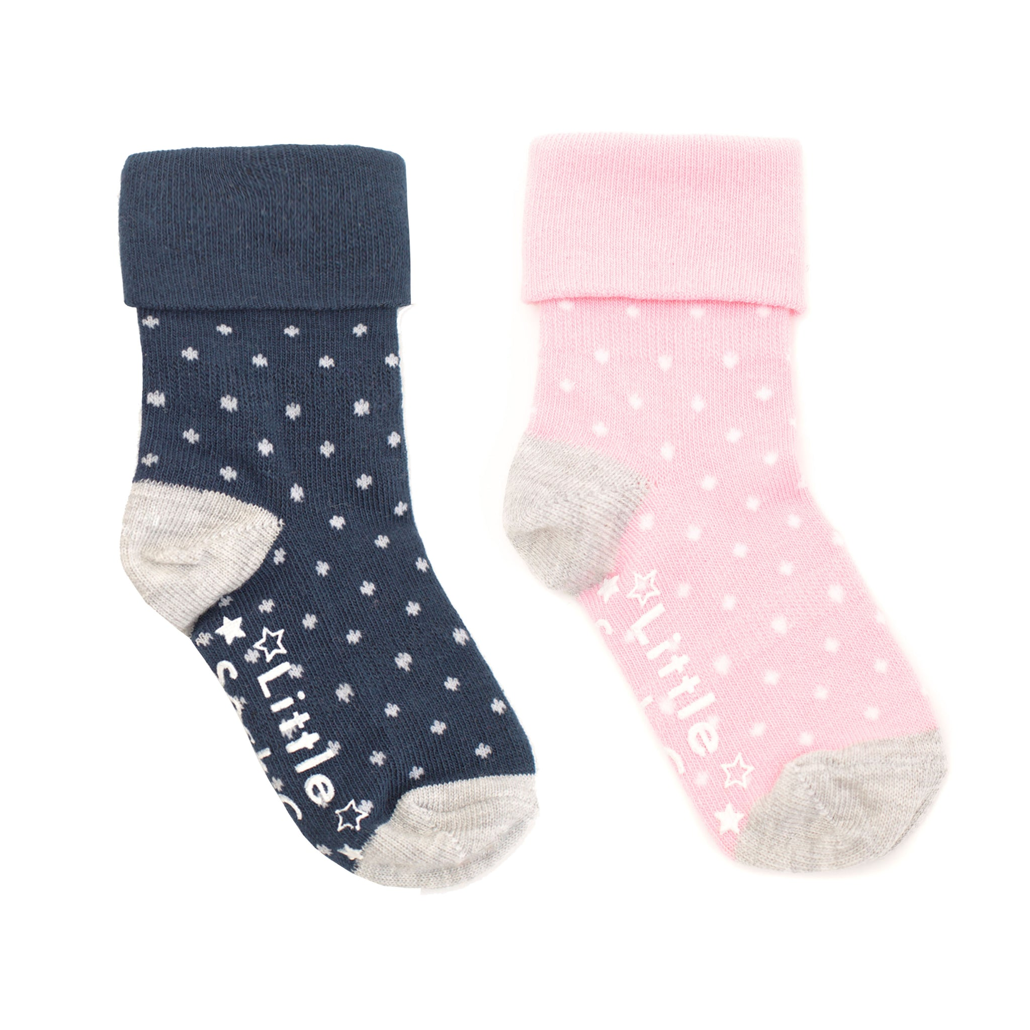 Non-Slip Stay on Socks - 2 Pack in Candy & Navy