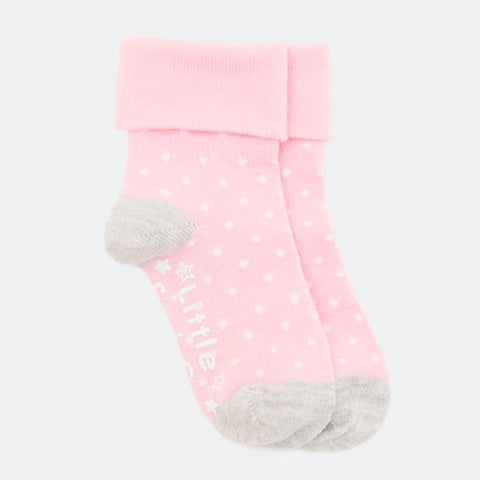 Candy Pink roll top Stay on Socks