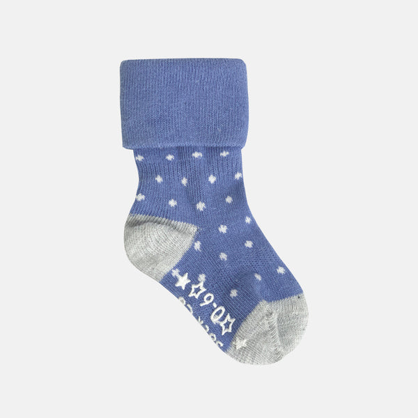 Non-Slip Stay on socks - Cornflower pin dot