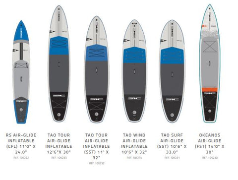 rs air glide - tao surf air glide - okeanos air glide