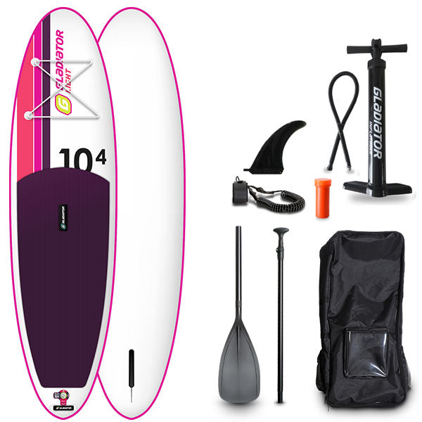 GLADIATOR PINK LIGHT 10'4 INFLATABLE PADDLE BOARD 2020 - The SUP Store