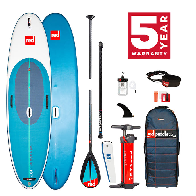 Red Paddle co 2021 - 10'7″ WINDSURF PADDLE BOARD PACKAGE