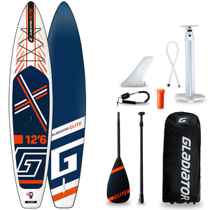 "GLADIATOR ELITE 12'6 X 32"" TOURING SUP 2020 - The SUP Store"