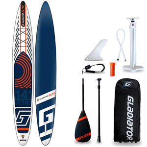 "GLADIATOR ELITE 14' X 25"" RACE SUP 2020 - The SUP Store"