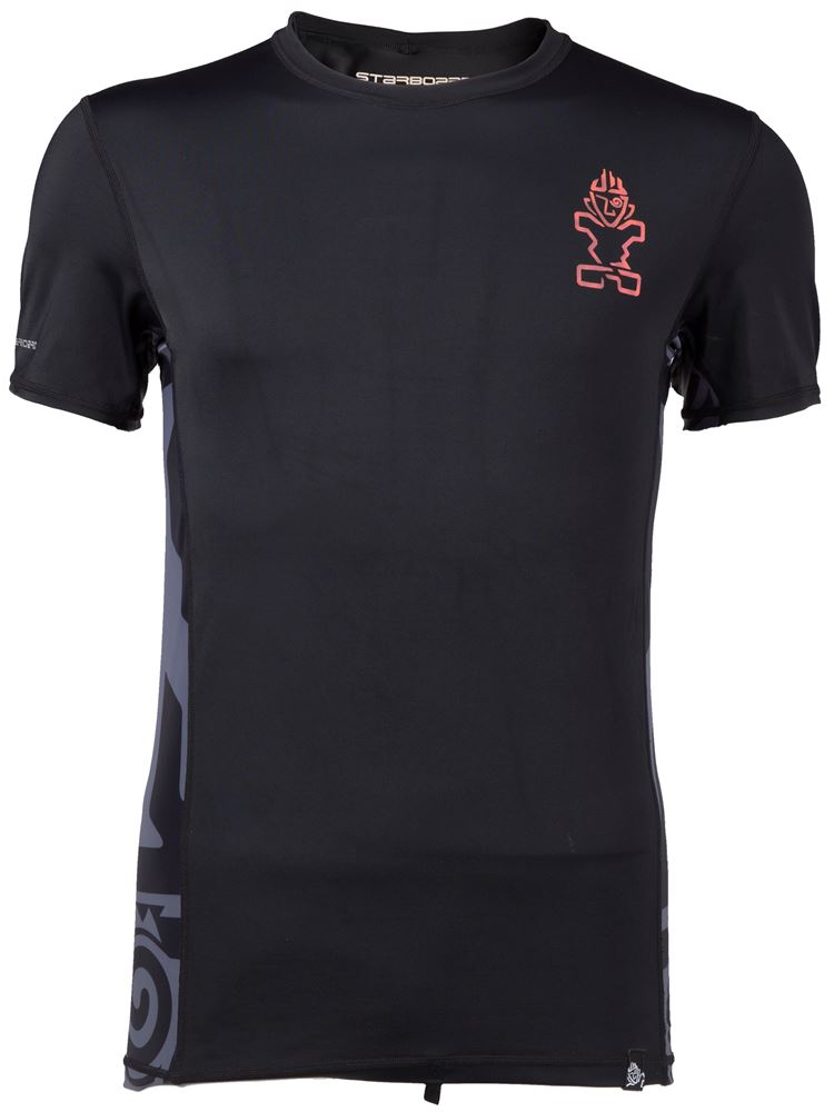 MENS SHORTSLEEVE LYCRA -BLACK - The SUP Store