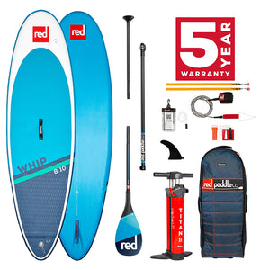 "Red Paddle Co 8'10"" WHIP MSL SUP SURF BOARD PACKAGE  - DEPOSIT FOR *pre order march"