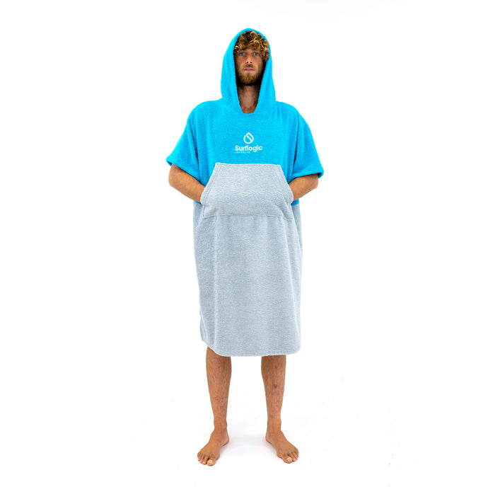 Surflogic Poncho Cyan/Grey