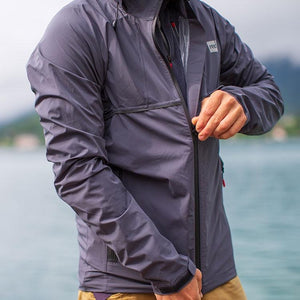 Red paddle men's rain coat