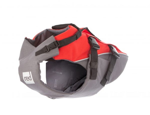 Red dog lifejacket