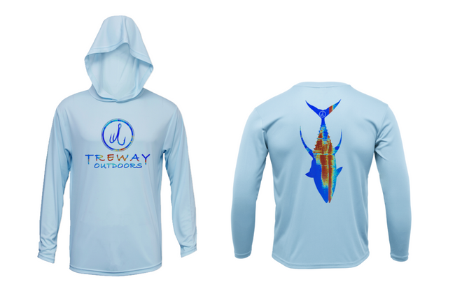 Treway Outdoors Yellowfin Tuna Sonar Series Hooded Long Sleeve