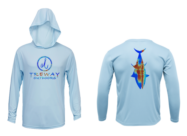 Treway Outdoors Bluefin Tuna Sonar Series Hooded Long Sleeve