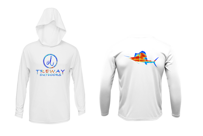 Treway Outdoors Sailfish Sonar Series Hooded Long Sleeve