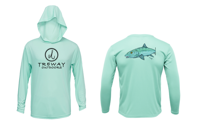 Treway Outdoors Bonefish Hooded Long Sleeve