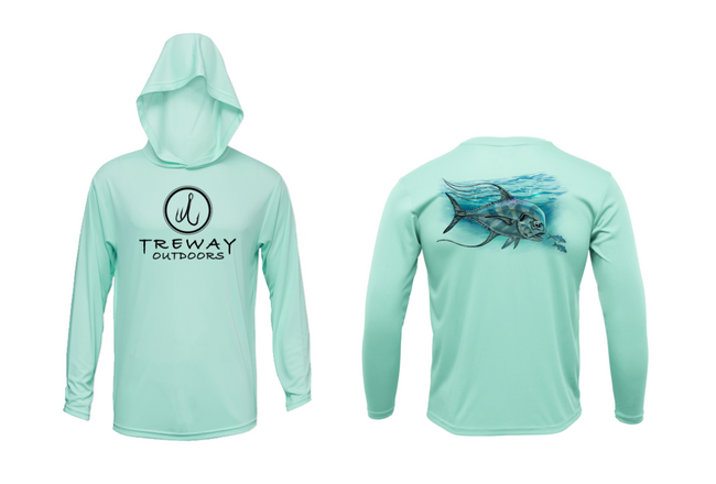 Treway Outdoors African Pompano Hooded Long Sleeve