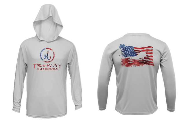 Treway Outdoors Flag Mahi Hooded Long Sleeve