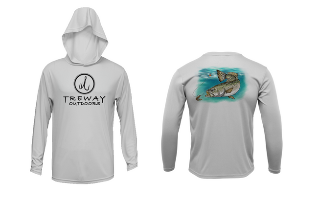 Treway Outdoors Speckled Sea Trout Performance Hooded Long Sleeve