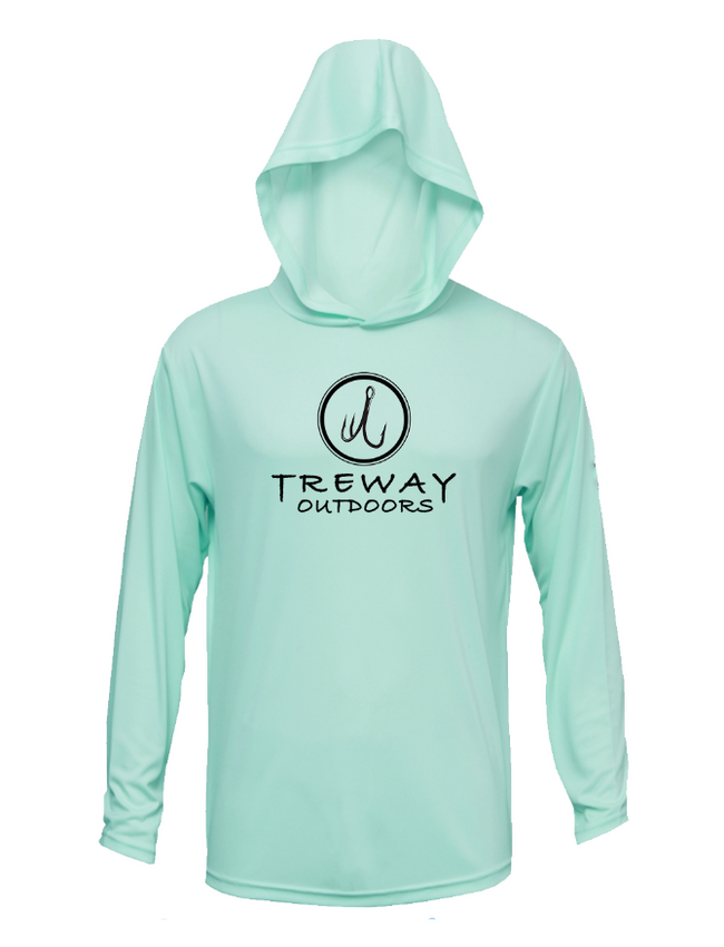 Treway Outdoors Flounder NC Performance Hooded Long Sleeve