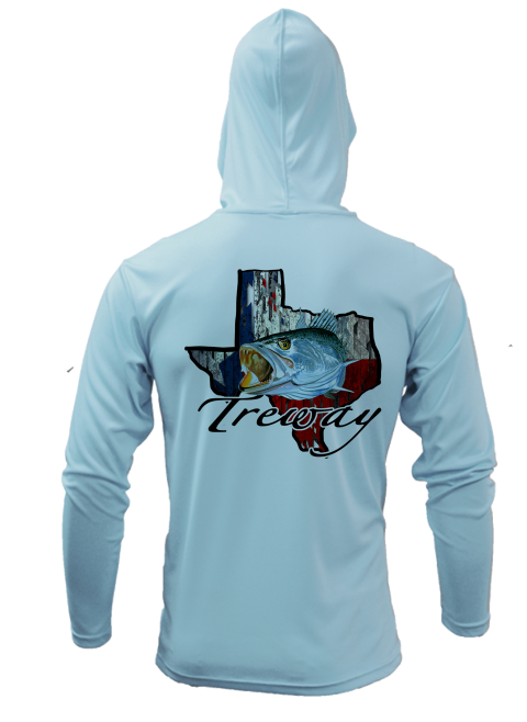 Treway Outdoors Trout Texas Outline Performance Hooded Long Sleeve