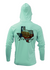 Treway Outdoors Flounder Texas Outline Performance Hooded Long Sleeve