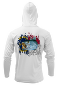 Treway Outdoors Trout NC Flag Performance Hooded Long Sleeve