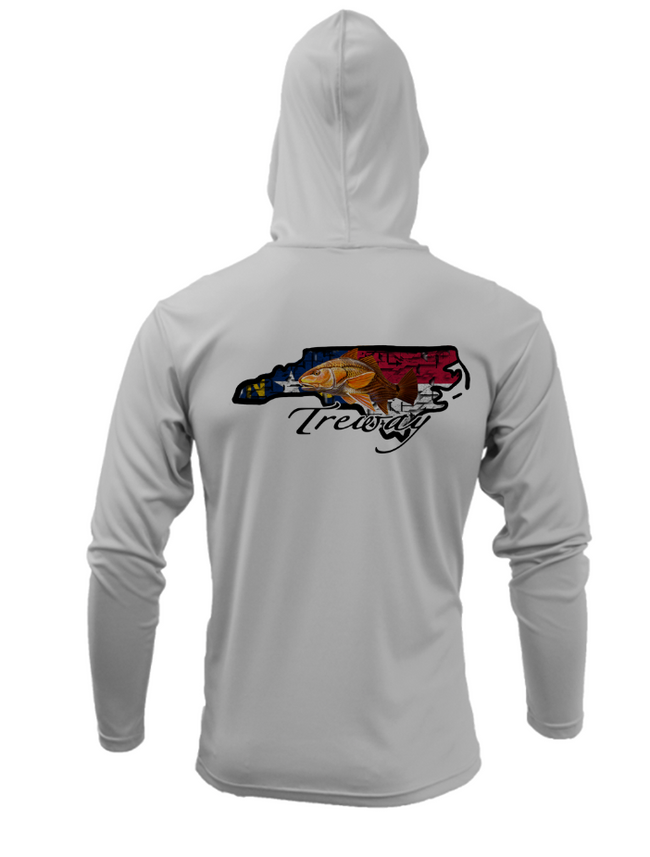 Treway Outdoors Redfish NC Performance Hooded Long Sleeve