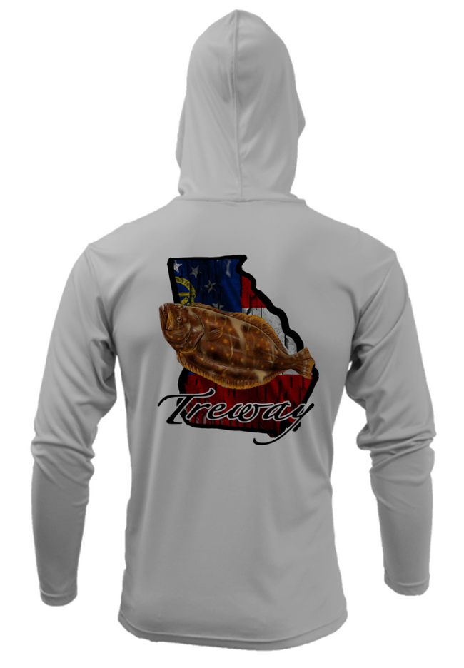 Treway Outdoors Flounder Georgia Performance Hooded Long Sleeve