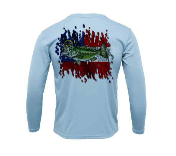 Treway Outdoors Largemouth Georgia Flag Performance Long Sleeve