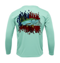 Treway Outdoors Tarpon Georgia Flag Performance Long Sleeve