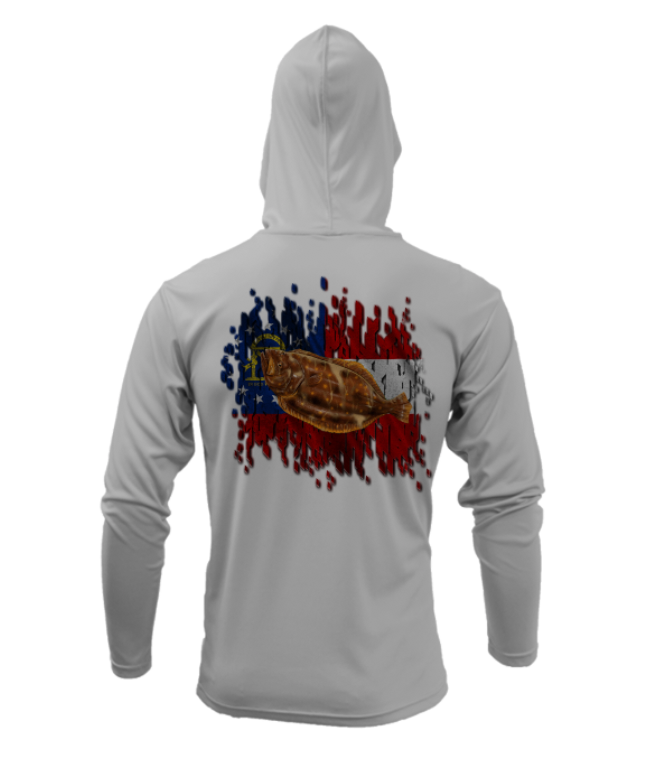 Treway Outdoors Georgia Flounder Performance Hooded Long Sleeve