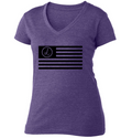 Treway Flag V Neck T Shirt