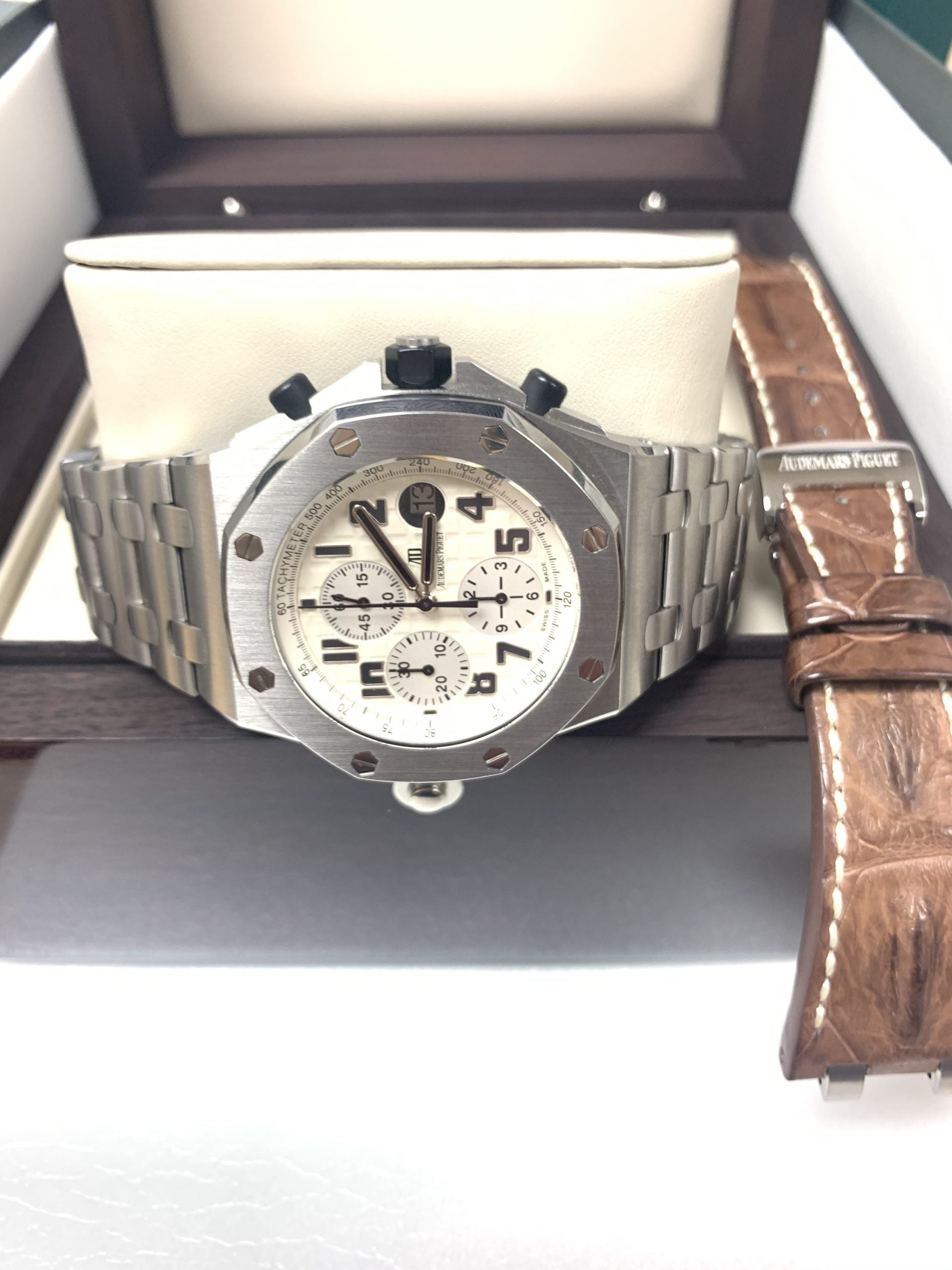 Audemars Piguet Safari 42mm Stainless Steel Case w/ Ivory Dial - 26170ST.00.D09CR.01