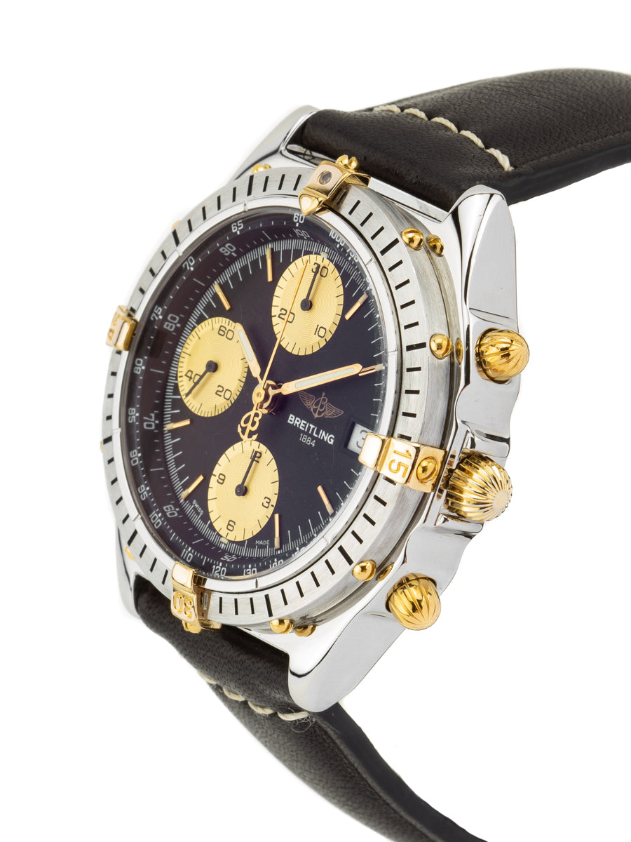 Breitling Crosswind Chronomat Steel with Gold Riders Blue Dial-B13048