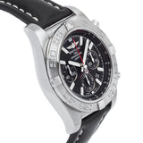 Breitling Chronomat 44 Flying Fish Stainless Steel w/Black Leather Strap - AB011010