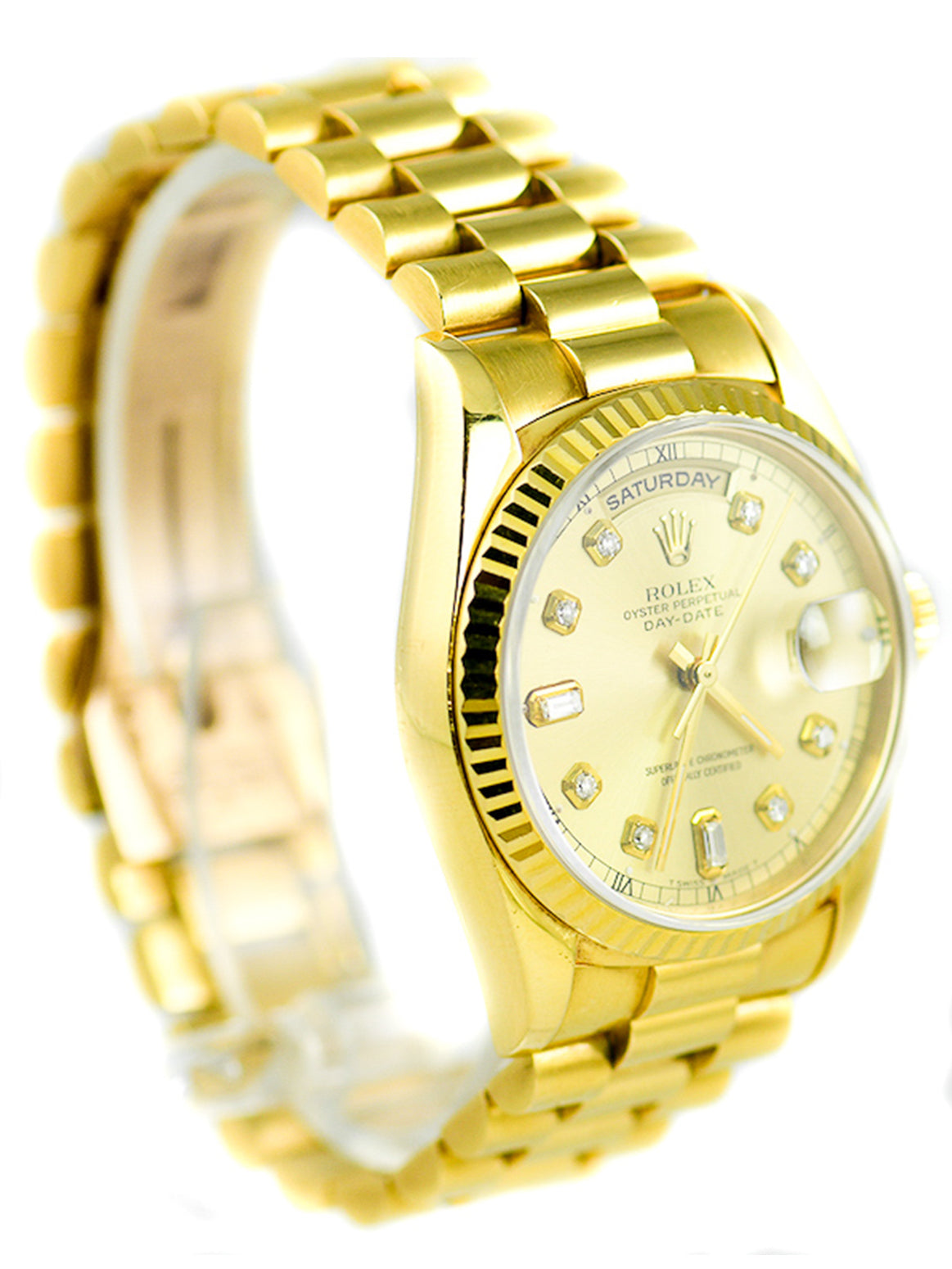 Rolex DayDate President 18KT Yellow Gold Diamond Hour Markers– 18238