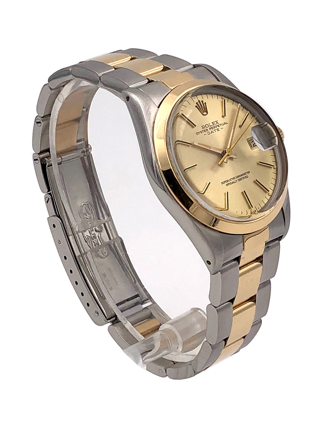 Rolex Oyster Perpetual Date Twotone 18kt Yellow Gold/Stainless Steel – 1500