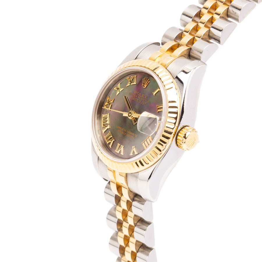 Rolex Ladies Datejust 26mm Twotone 18kt Yellow Gold/Stainless Steel w/MOP Dial - 179173