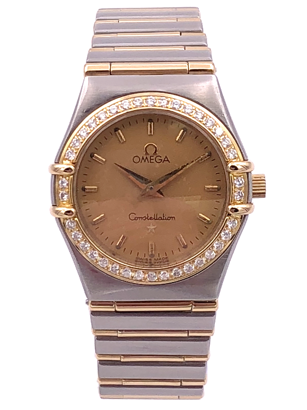 Omega Constellation Ladies Twotone Diamond Bezel – 1277.10.00