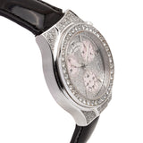 TechnoMarine Ladies Diva Chronograph 18kt White Gold w/Pave Diamond Dial