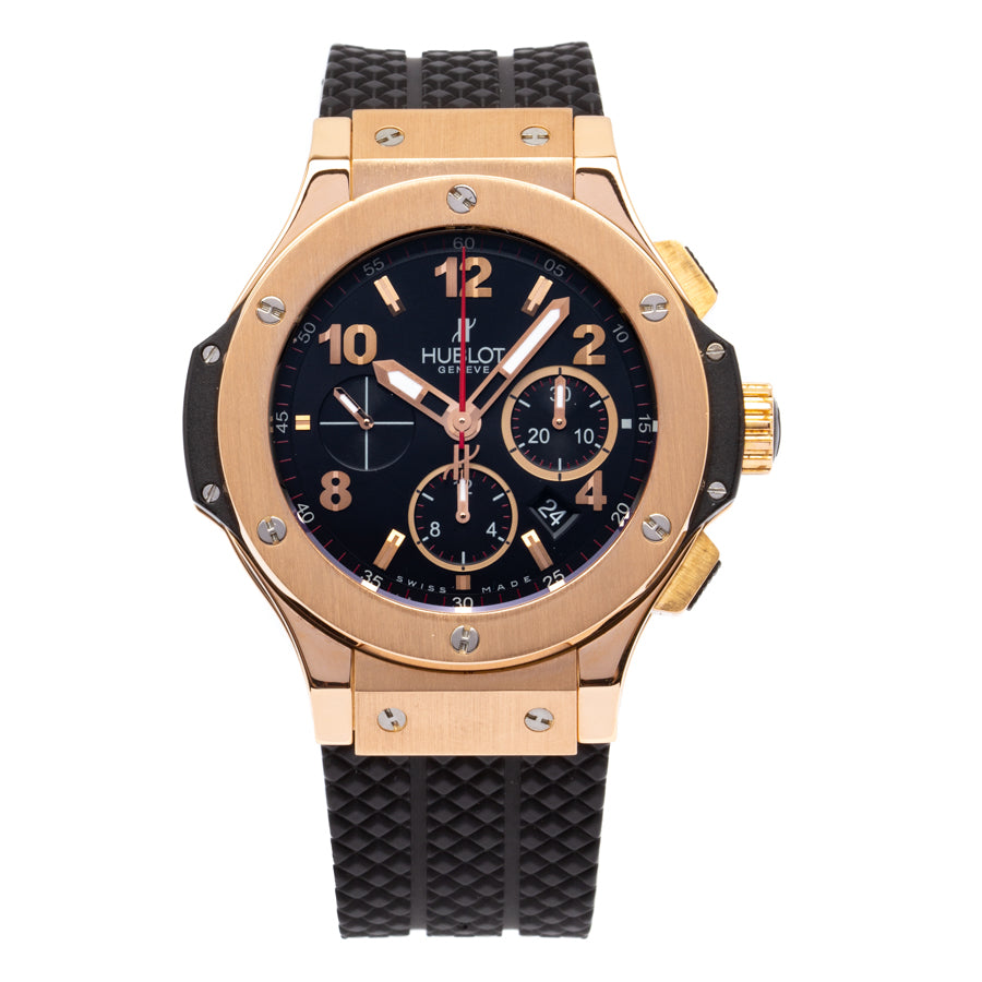 Hublot Big Bang 18kt Rose Gold Chronograph w/Black Arabic Dial - 301.PX.130.RX