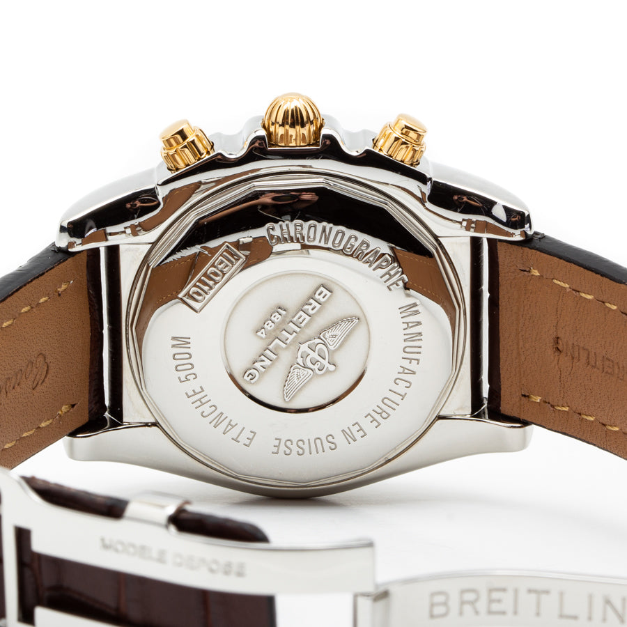 Breitling B01 Chronomat 44mm Steel & Rose Gold Case w/Silver Dial - IB0110