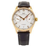 IWC Portuguese 7-Day 42.3mm 18kt YG Case w/ Leather Strap - IW500101